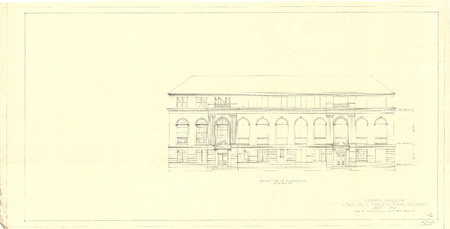 Front (West) Elevation of the USAC Library Building<br />