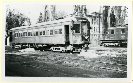U.I.C. Passenger Engine 504 and Freight Engine 903 at a Wye Stop, Logan, 1940s<br />