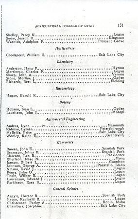 1914 UAC Commencement Program Page 3