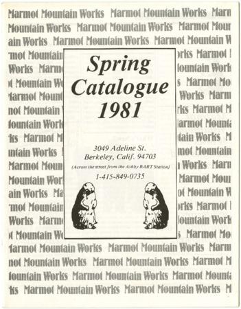 Marmot Mountain Works, Spring 1981