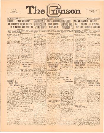 The Crimson, November 19, 1925