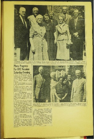 Newspaper Article from Ada Morrell's Scrapbook about Upcoming BYC Reunion
