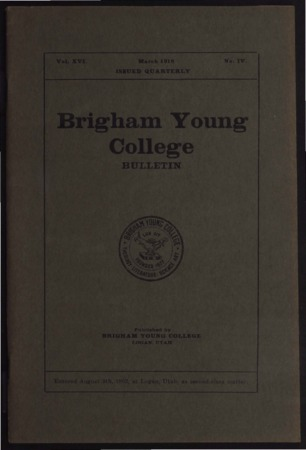 Brigham Young College Bulletin, March, 1918
