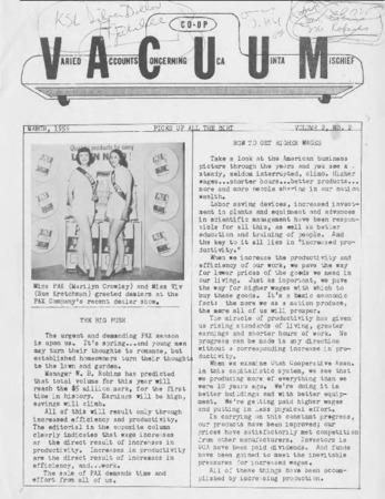 Varied Accounts Concerning Uca Uinta Mischief (VACUUM), Volume 2, Number 2, March 1959