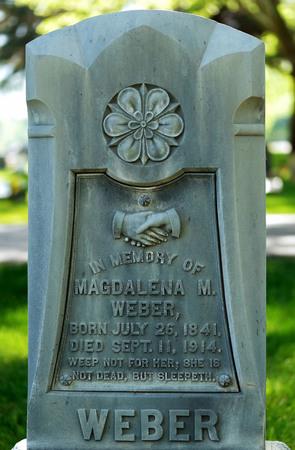 Logan cemetery headstone, 3