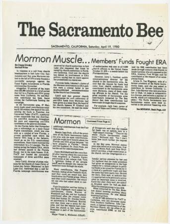 Mormon Muscle...Members' Funds Fought ERA