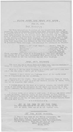 Farm Bureau Newsletter, Wasatch County, 1920
