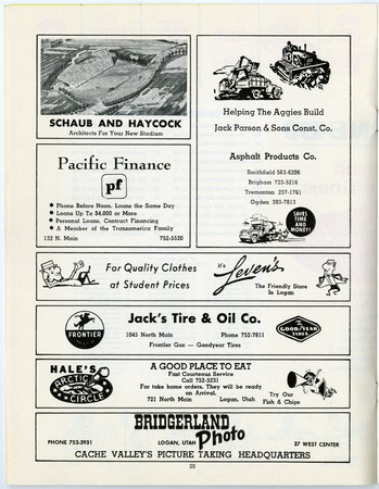 Local advertisements, 1967