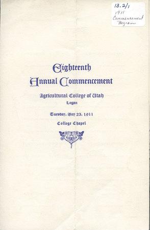 1911 UAC Commencement Program Cover