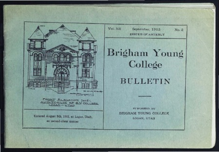 Brigham Young College Bulletin, September 1913