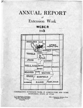 Annual Report of Extension Work, Agricultural Agent, Weber County, 1943