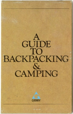 Gerry, A Guide to Backpacking and Camping, undated