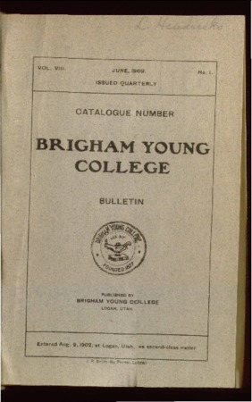 Brigham Young College Bulletin, June 1909