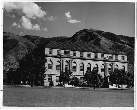 View of the Merrill Library from the Quad, 1940s