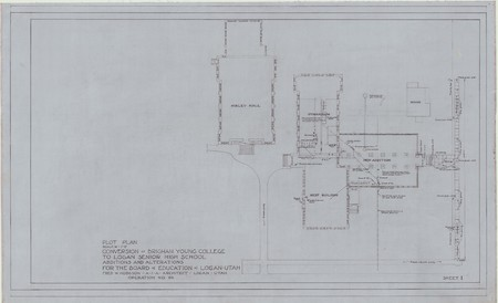 Conversion of Brigham Young College to Logan Senior High School; plot plan