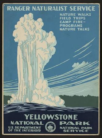 Yellowstone National Park New Deal Poster