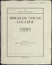 Brigham Young College Bulletin, VOL. VI. No. IV. 1908