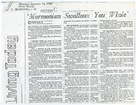 Mormonism Swallows you Whole