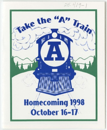 """""""Take the A Train"""" pamphlet - Homecoming 1998"""