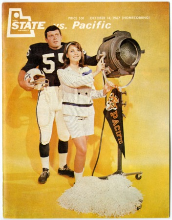 Football program .- Utah State University vs Pacific, October 14, 1967