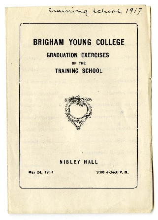 Brigham Young College Graduation Exercises of the Training School, May 24, 1917