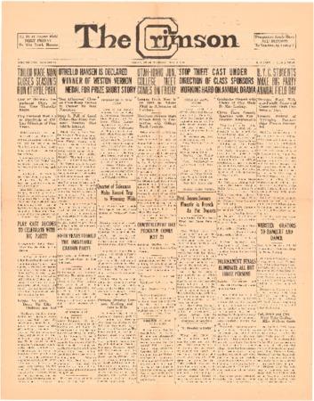 The Crimson, May 4, 1926