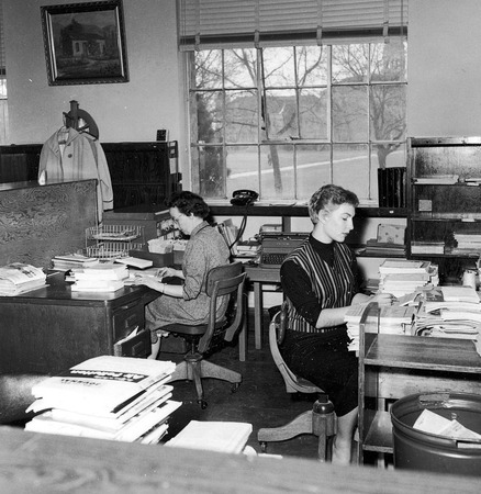 Serials department, south end of the library, 1950s