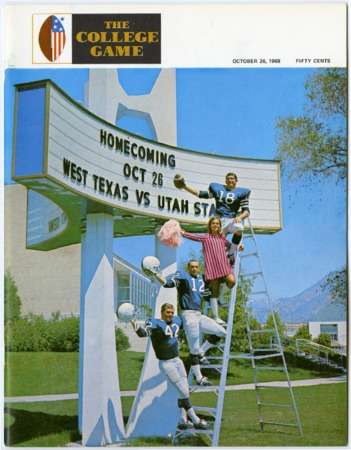 Football program - Utah State University vs West Texas University, October 26, 1968