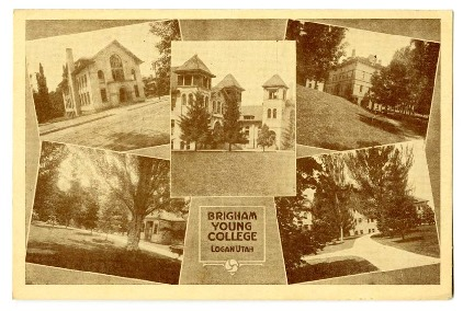 Brigham Young College postcard