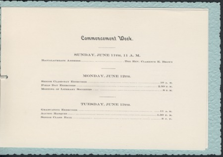 1899 UAC Commencement Invitation, Page 2