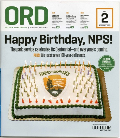 Outdoor Retailer Daily, Happy Birthday, NPS!, 2016