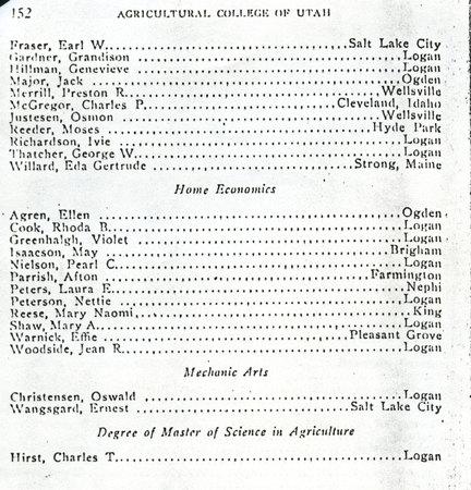 1914 UAC Commencement Program Page 4