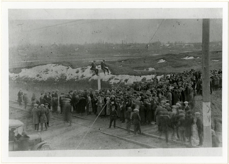 South Cache High School Students Await the U.I.C. at Hyrum, 1920s<br />