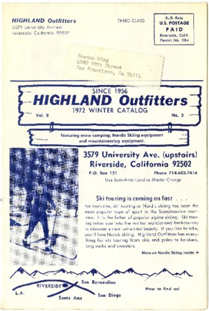 Highland Outfitters, Winter 1972
