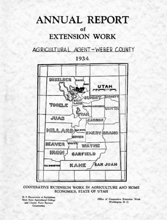 Annual Report of Extension Work, Agricultural Agent, Weber County, 1934