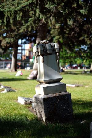 Logan cemetery headstone, 9