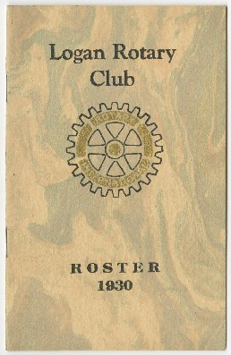 Logan Rotary Club Roster, 1930