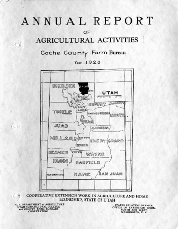 Annual Report of Agricultural Activities, Cache County Farm Bureau, 1920