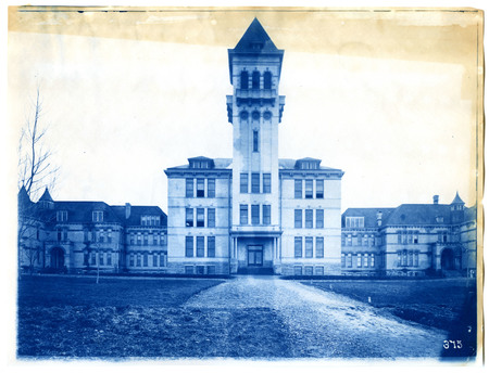 Old Main straight-on front view