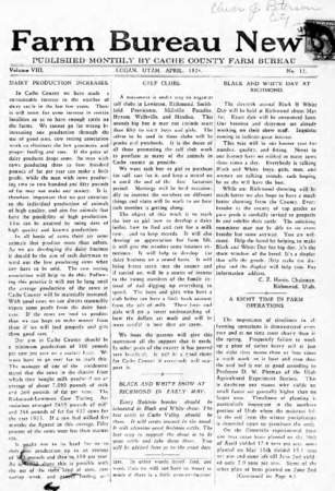 Farm Bureau News, Cache County, Volume VIII, Number 11, April 1924