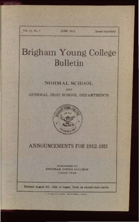 Brigham Young College Bulletin, June 1912