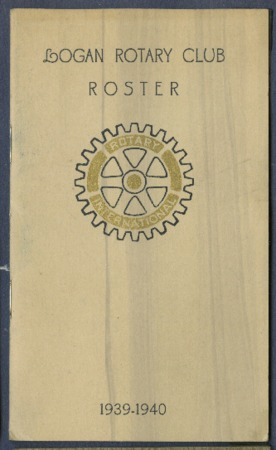 Logan Rotary Club Roster, 1939-40