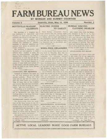 Farm Bureau News, Morgan and Summit Counties, 1920