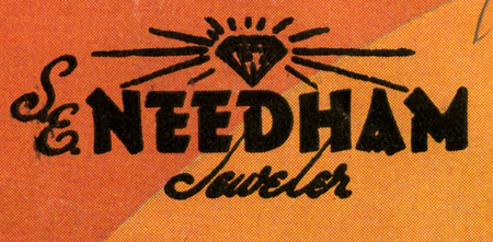 S.E. Needham Jeweler logo, 1956