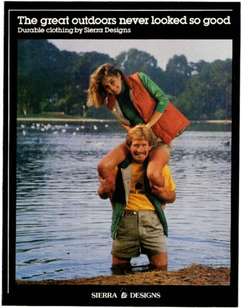 Sierra Designs, shoulder ride, 1981