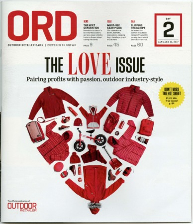 Outdoor Retailer Daily, The Love Issue, 2017