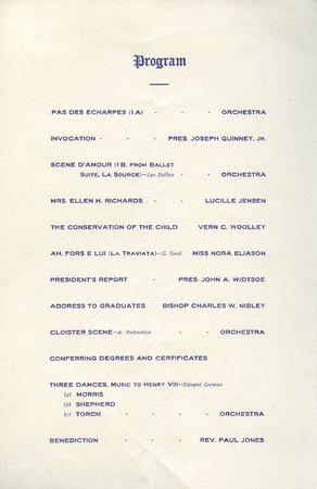 1911 UAC Commencement Program Page 1