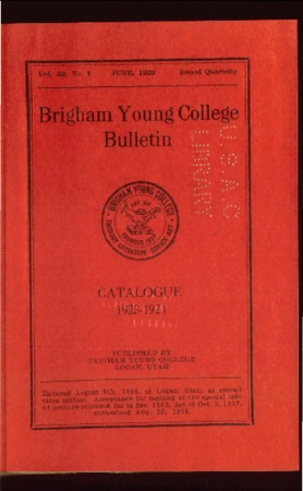 Brigham Young College Bulletin, June 1923