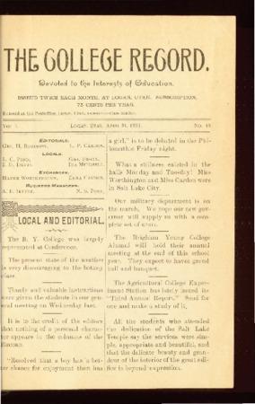 The College Record, April 21, 1893