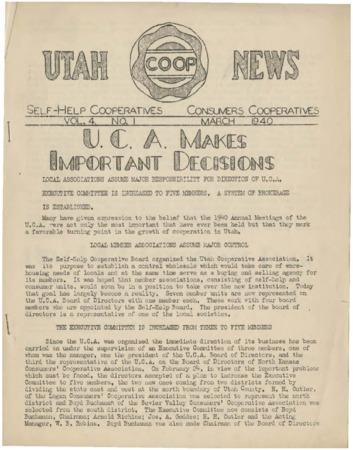 Utah Coop News, 1940-1955